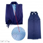 Kendo uniform Set DELUXE all BLUE | Kendo Gi + Hakama