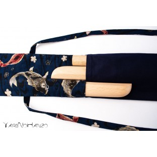 Aikido Bag KOI blue | Buki Bukuro KOI | Bag For Tanto, Bokken and Jo