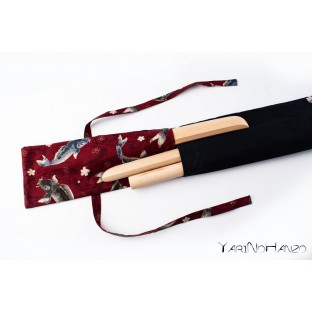 Aikido Bag KOI red | Buki Bukuro KOI | Bag For Tanto, Bokken and Jo